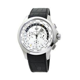 ジラール・ペルゴ GIRARD PERREGAUX トラベラー Traveller メンズ GP49700-11-133-BB6B シルバー/ブラックレザー 時計/ウォッチ