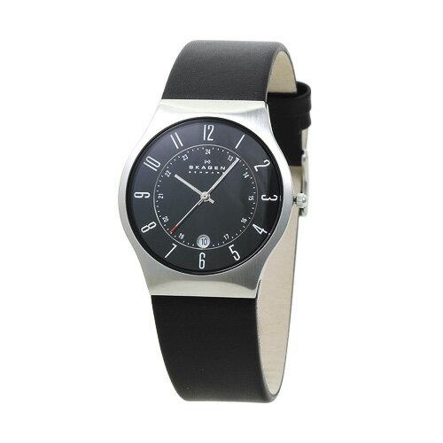 スカーゲン SKAGEN 233XXLSLB メンズ ブラック/ブラックレザー 時計/ウォッチ