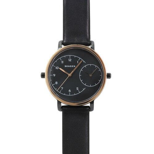スカーゲン SKAGEN SKW2475 ハーゲン デュアルタイム レディース ブラック/ブラックレザー 時計/ウォッチ