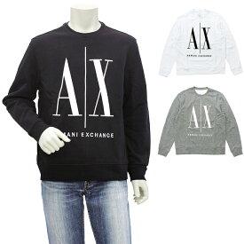 【エントリーでP10倍】アルマーニエクスチェンジ ARMANI EXCHANGE ICONスウェットシャツ クルーネックトレーナー 8NZMPA ZJ1ZZ メンズ