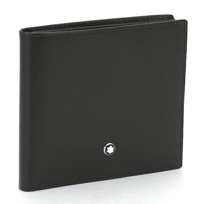 モンブラン MONTBLANC 二つ折り財布 7163 ブラック