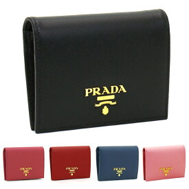 プラダ PRADA 二つ折り財布 1MV204 SAFFIANO METAL ORO 【キャッシュレス還元対応】