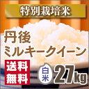 【特別栽培米】新米京都丹後ミルキークイーン白米27kg(28年産)