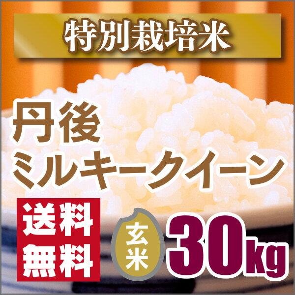 【特別栽培米】京都丹後ミルキークイーン玄米30kg(30年産新米)