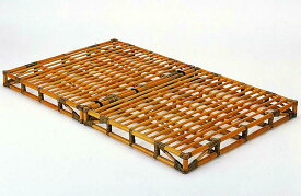 籐(ラタン)折りたたみベッド 籐すのこベッド セミダブルサイズ Y-907 アジアンテイスト