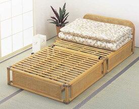 籐(ラタン)ベッド ヘッドボード付籐すのこベット シングル アジアンテイスト Y-915