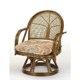 回転籐椅子 ラタンチェアミドルハイタイプ 座椅子 s303b