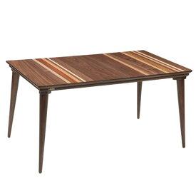 ハイタイプ高脚こたつ/ダイニングコタツ こたつテーブル、プレス135センチ幅、長方形 ダークブラウン色