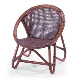 籐椅子 ラタンベビーチェア 子供椅子 ロータイプ B-56D ダークブラウン色