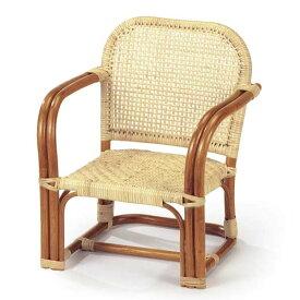籐椅子 ラタンベビーチェア 子供椅子 ロータイプ BB-54A ナチュラル色