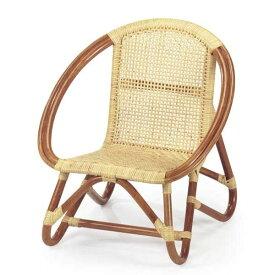 籐椅子 ラタンベビーチェア 子供椅子 ロータイプ BB-55A ナチュラル色