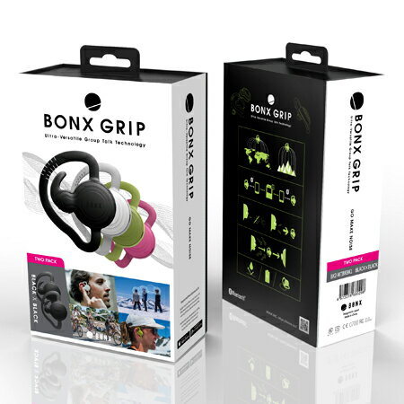 【ポイント10倍】【2個パック】《BONX GRIP》エクストリームコミュニケーションギア ボンクスグリップ 免許不要!スマホアプリ使用で、どんな距離でもどんな環境でも、自由に会話ができるウェアラブルトランシーバー