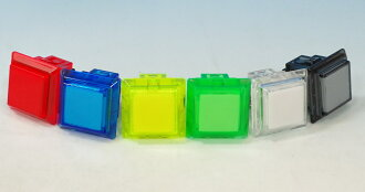 Expression hame込mi push buttons 24 mm square clear
