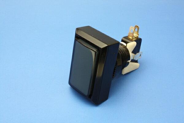 ♪音ゲー♪【メーカー純正品】照光式押しボタン薄型45φ長方形 スモーク(旧型ランプホルダー)(ランプ無し)【OBSA-45UK-K/W-LN】