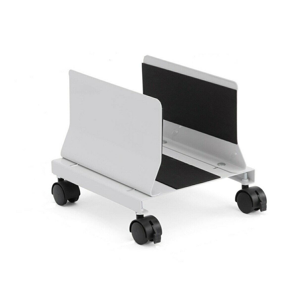 CPUスタンド デスクトップ用 パソコン本体設置用 キャスター付き 幅13.2cm〜22cm 無段階調節 スチール製 パソコンスタンド[100-CPU003]【サンワダイレクト限定品】