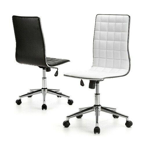 チェア おしゃれ デザインチェア オフィスチェア レザーチェア ブラック・ホワイト スタイリッシュ ロッキング 椅子[100-SNC027]【サンワダイレクト限定品】【送料無料】