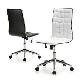 チェア おしゃれ デザインチェア オフィスチェア レザーチェア パソコンチェア ブラック・ホワイト キャスター スタイリッシュ シンプル ロッキング 椅子