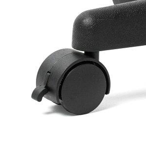 オットマンリラックス脚置き台ストッパー付きキャスター仕様PUレザー製ブラック