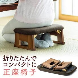 折りたたみ正座椅子 高座椅子 コンパクト クッション 法事 しびれ あぐら 腰痛対策 長時間 ブラウン 和室・畳の部屋に 高齢者 腰掛 介護 テレビ座椅子 座イス 座いす