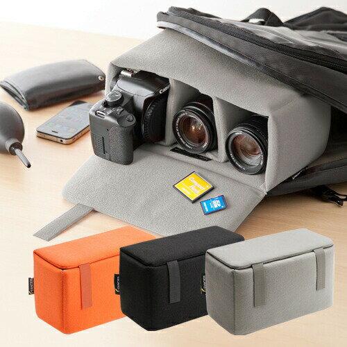 一眼レフ カメラバッグ ソフトクッションボックス カメラケース カメラバック インナーカメラバッグ 一眼レフケース カメラボックス カメラインナーバック[200-BG019]【サンワダイレクト限定品】