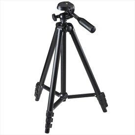 三脚 カメラ デジカメスタンド コンパクト 軽量 4段伸縮 一眼レフ ビデオカメラ対応 アングル・角度かんたん調節 専用ケース付き ブラック デジカ 一眼レフ用 3脚 さんきゃく tripod