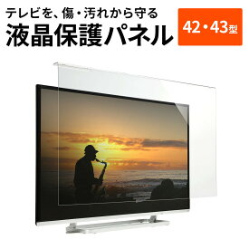 液晶テレビ保護パネル 42型対応 (42インチ) 43型対応 (43インチ) アクリル製 保護フィルター クリアパネル