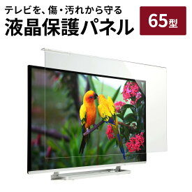 液晶テレビ保護パネル 65型 65インチ 光沢 グレア仕様 テレビ 保護パネル アクリル製 クリアパネル