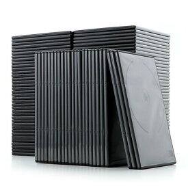 DVDケース トールケース 7mm 2枚収納×100枚セット ブラック CDケース 収納ケース メディアケース