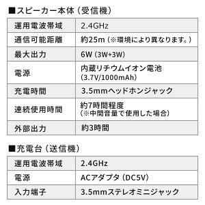 テレビスピーカーワイヤレスTV用手元スピーカー充電式最大25mまで通信最大6Wホワイト補聴バッテリー内蔵