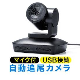 ビデオ会議カメラ 会議用カメラ WEBカメラ WEB会議 マイク内蔵 自動追尾型カメラ 広角 マイク搭載 フルHD対応 リモコン付 Skype Zoom