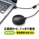 WEB会議マイク USBマイク 薄型 Skype対応 高感度 無指向性 5m pcマイク スカイプ