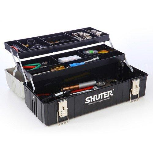 工具箱(ツールボックス・整理・持ち運び・2段トレー付き・プラスチック) [800-BYBOX2BK]【サンワダイレクト限定】