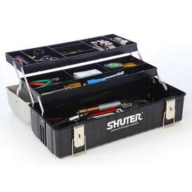工具箱 おしゃれ ツールボックス プラスチック 道具箱 整理 持ち運び 2段トレー付き