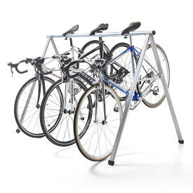 自転車スタンド 最大5台 レーススタンド 工具不要 サドル引掛け式 バイクスタンド バイクハンガー クロスバイク ロードバイク フレーム サイクル
