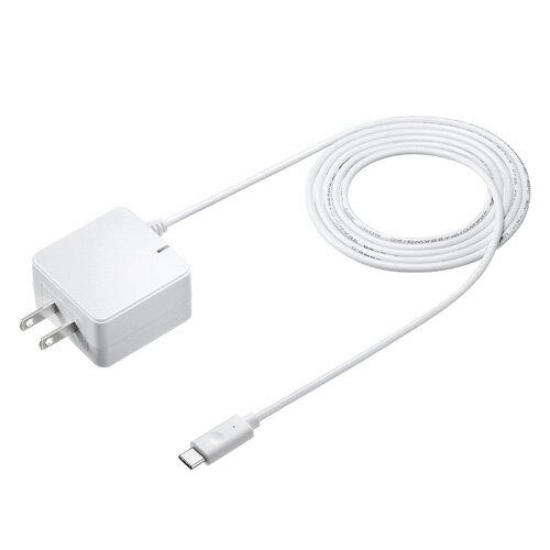 Quick Charge 3.0対応AC充電器(USB Type Cケーブル一体型・ホワイト・1.2m)[ACA-QC46CW] 【送料無料】