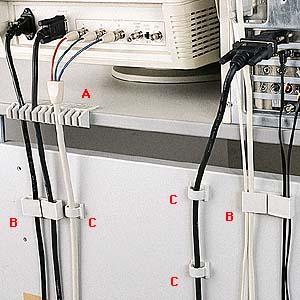 ケーブルホルダー3種類のケーブルクリップセット配線の整理に最適