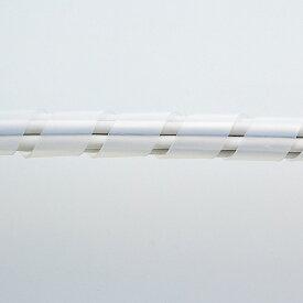 ケーブルタイ(スパイラル・30m巻き・内寸直径15mm・ホワイト)[CA-SP15W-30N]【送料無料】