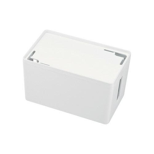 ケーブル&タップ収納ボックス Sサイズ ホワイト 配線カバー 配線 収納 隠し コード収納 充電ステーション おしゃれ[CB-BOXP1WN2]