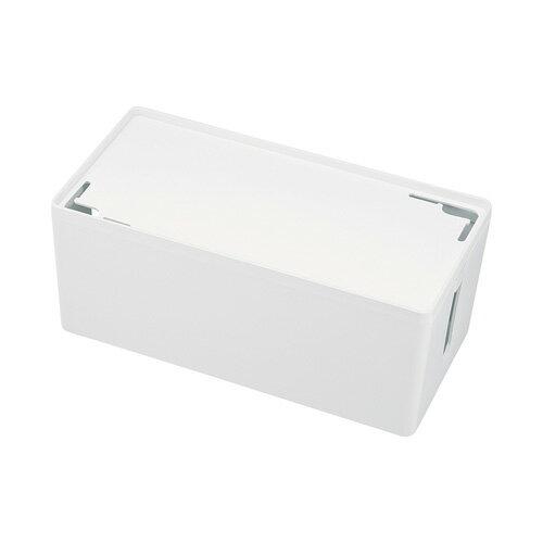 ケーブル&タップ収納ボックス Mサイズ ホワイト 配線カバー 配線 収納 隠し コード収納 充電ステーション おしゃれ[CB-BOXP2WN2]