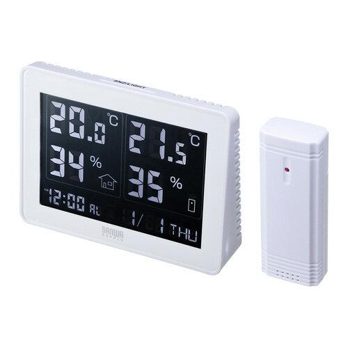 ワイヤレスデジタル温湿度計(受信機付き)[CHE-TPHU4] 【送料無料】