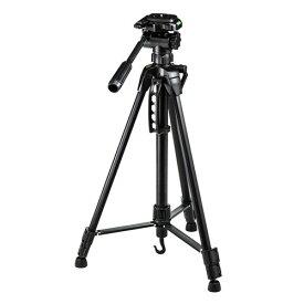 カメラ三脚 3段階 コンパクト 軽量 デジタル一眼レフ・ミラーレス・コンパクトデジカメ対応 ブラック 一眼レフ用 ビデオカメラ