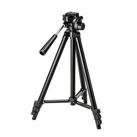 カメラ三脚 4段階 コンパクト 軽量 デジタル一眼レフ・ミラーレス・コンパクトデジカメ対応 ブラック 一眼レフ用 ビデオカメラ