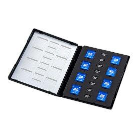 SDケース SDカード8枚+マイクロSDカード8枚収納 DVDトールケース型 メディアケース