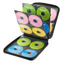 CDケース DVDケース セミハードケース 160枚収納 ファイル型 ブラック 収納ケース メディアケース持ち運び