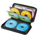 CDケース DVDケース セミハードケース 96枚収納 ファイル型 ブラック 収納ケース メディアケース持ち運び [FCD-WL96B…