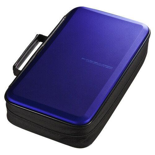 ブルーレイディスク対応セミハードケース 104枚収納 ブルー Blu-ray・DVD・CD対応 [FCD-WLBD104BL]【サンワサプライ】