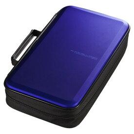 ブルーレイディスク対応セミハードケース 104枚収納 ブルー Blu-ray・DVD・CD対応