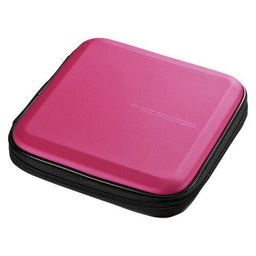 ブルーレイディスク対応セミハードケース 12枚収納 ピンク Blu-ray・DVD・CD対応 [FCD-WLBD12P]【サンワサプライ】