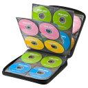 ブルーレイディスク対応セミハードケース 160枚収納 ブラック CDケース 持ち運び
