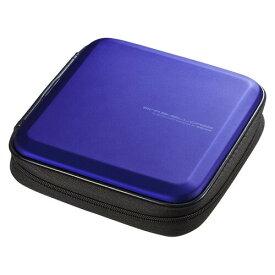 ブルーレイディスク対応セミハードケース 24枚収納 ブルー Blu-ray・DVD・CD対応